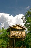 Tree House on a Summer Day Royalty Free Stock Photos