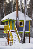 Tree house under the snow Stock Photography