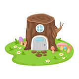 Tree house on a white background,vector Royalty Free Stock Photos