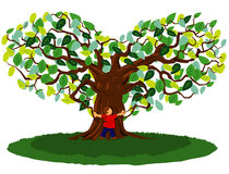 Tree Hug Stock Image