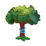 Tree hug for nature love concept illustration Royalty Free Stock Image