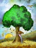 Tree hug Royalty Free Stock Image