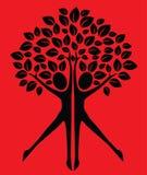 Tree human body logotype or card Royalty Free Stock Photos