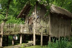Tree, Hut, Grass, Outdoor Structure Stock Photography