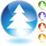 Tree Icon. Set of 5 3D tree icons Stock Image