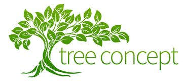 Tree Icon Concept. A conceptual illustration of a tree icon Royalty Free Stock Photo