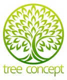 Tree Icon Concept Circle. Tree icon concept of a stylised tree with leaves in a circle, lends itself to being used with text vector illustration
