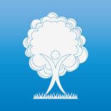 Tree icon design Royalty Free Stock Photography