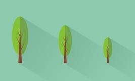 Tree. Icon tree flat design Stock Image