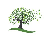 Tree icon logo template Royalty Free Stock Photography