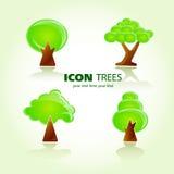 Tree icon set Stock Photos