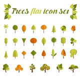 Tree icon set  in a modern style flat Stock Photography