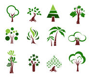 Tree icon set Royalty Free Stock Photos