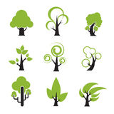 Tree Icon 002. Set of tree icon nature plant symbol vector illustration Royalty Free Stock Image