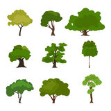 Tree icon set. Rree silhouette forest, leaf tree, tree isolated, tree branch Royalty Free Stock Photo