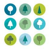 Tree icon set. Royalty Free Stock Image