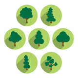Tree icon set. royalty free illustration
