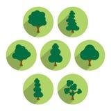 Tree icon set. Royalty Free Stock Photos