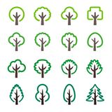 Tree icon set. Tree line icon set,vector and illustration vector illustration