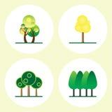 Tree icon set Royalty Free Stock Photography