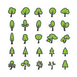 Tree icon set, vector eps10 Royalty Free Stock Photo
