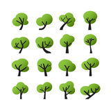 Tree icon set, vector eps10 Royalty Free Stock Photography