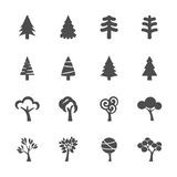 Tree icon set, vector eps10 Stock Photo