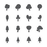 Tree icon set, vector eps10 Stock Photos