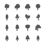 Tree icon set, vector eps10 Stock Photos