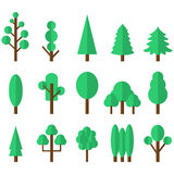 Tree icon set. Vector illustration Royalty Free Stock Image