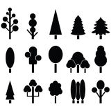 Tree icon set. Vector illustration Royalty Free Stock Images