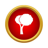 Tree icon in simple style Stock Image