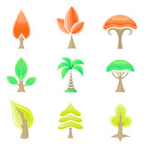 Tree icons Royalty Free Stock Image