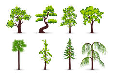 Tree icons royalty free illustration