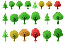 Tree icons Stock Photos