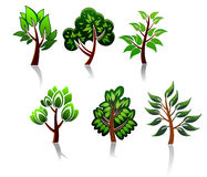 Tree icons Stock Photography