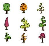 Tree Icons Stock Photography