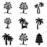 Tree icons collection Stock Photography