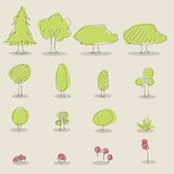 Tree Icons Stock Photo