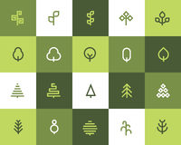 Tree icons. Flat style Royalty Free Stock Photography