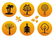 Tree icons Royalty Free Stock Images