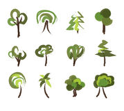 Tree icons Stock Photos