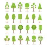 Tree icons set Stock Photos