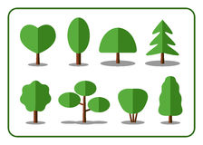 Tree icons set 2 Stock Images