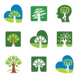 Tree icons Royalty Free Stock Photography