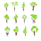 Tree icons set. In vector Royalty Free Stock Photography