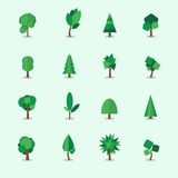 Tree icons set, vector illustration Royalty Free Stock Photo