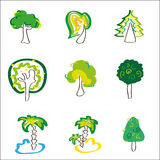 Tree icons vector Royalty Free Stock Photos