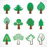 Tree icons. Vector eps 8 Stock Images