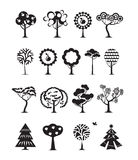 Tree icons. Vector format Royalty Free Stock Photography